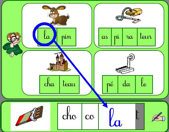 P che la syllabe pour l 39 cole pinterest les syllabes syllabes et p che - Couper les mots en syllabes ...