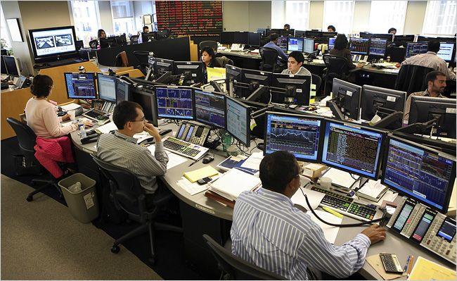Trading Floor Trading Desk Stock Exchange Stock Trading