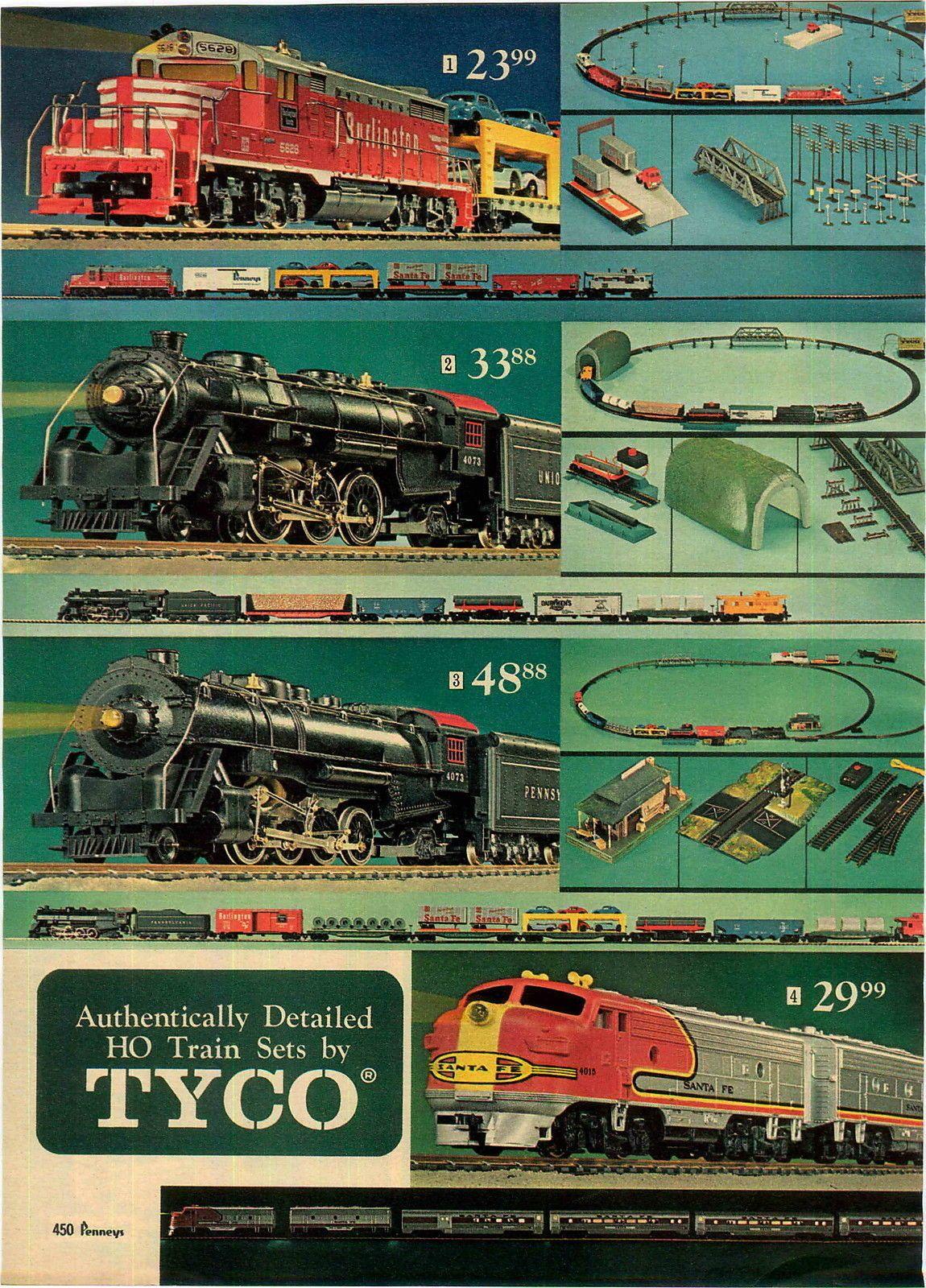 medium resolution of 1969 advert 3 pg tyco toy electric train set railroad empire pacific lionel ebay
