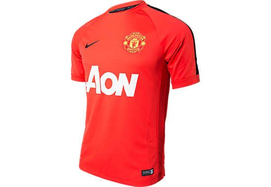 8e34958163f Nike Manchester United Training Top - Red and Black