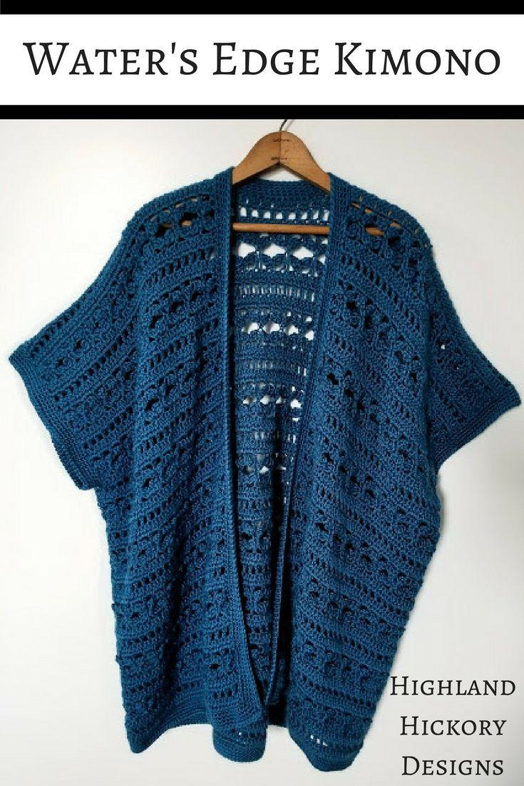 Waters Edge Kimono Free Crochet Pattern Crochet Clothes