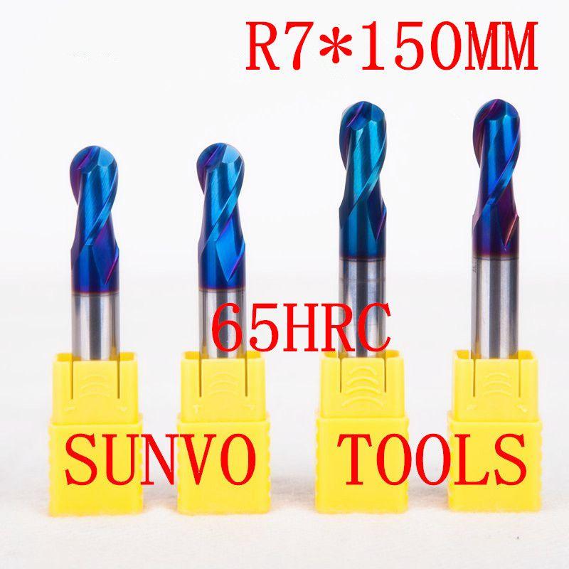 1pcs R7x150mm 14mm Hrc45 Hrc50 Hrc55 Hrc60 Hrc65 Cnc Milling Tools