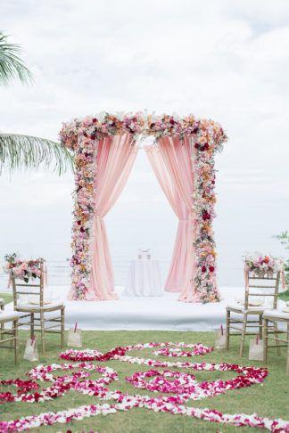 Pinterest Worthy Blush Ombre Destination Wedding In Phuket