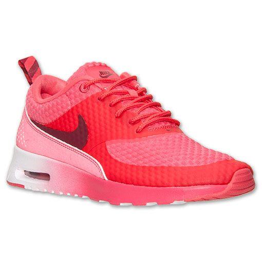 ... Womens Nike Air Max Thea Premium Running Shoes Finish Line GeraniumTeam  ...