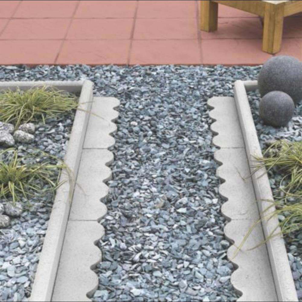 Bradstone Round Top Edging Grey 600x150x50 Grey Paving Paving Edging Modern Garden Landscaping
