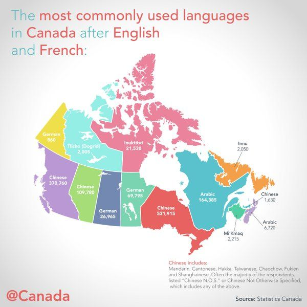 A Glimpse Of Canadas Diversity The Most Commonly Used Language - Most popular language in world after english