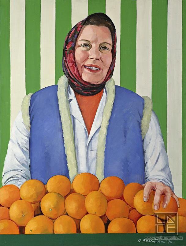 Oľga Bartošíková: Clerk at the fruit shop  / Predavačka ovocia z Námestia Ľudových milícií (1976)