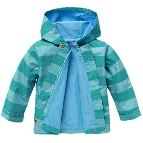 cd35e48488b1 Arshiner Girls Baby Waterproof Rain Coat Jacket Outwear Trench With ...