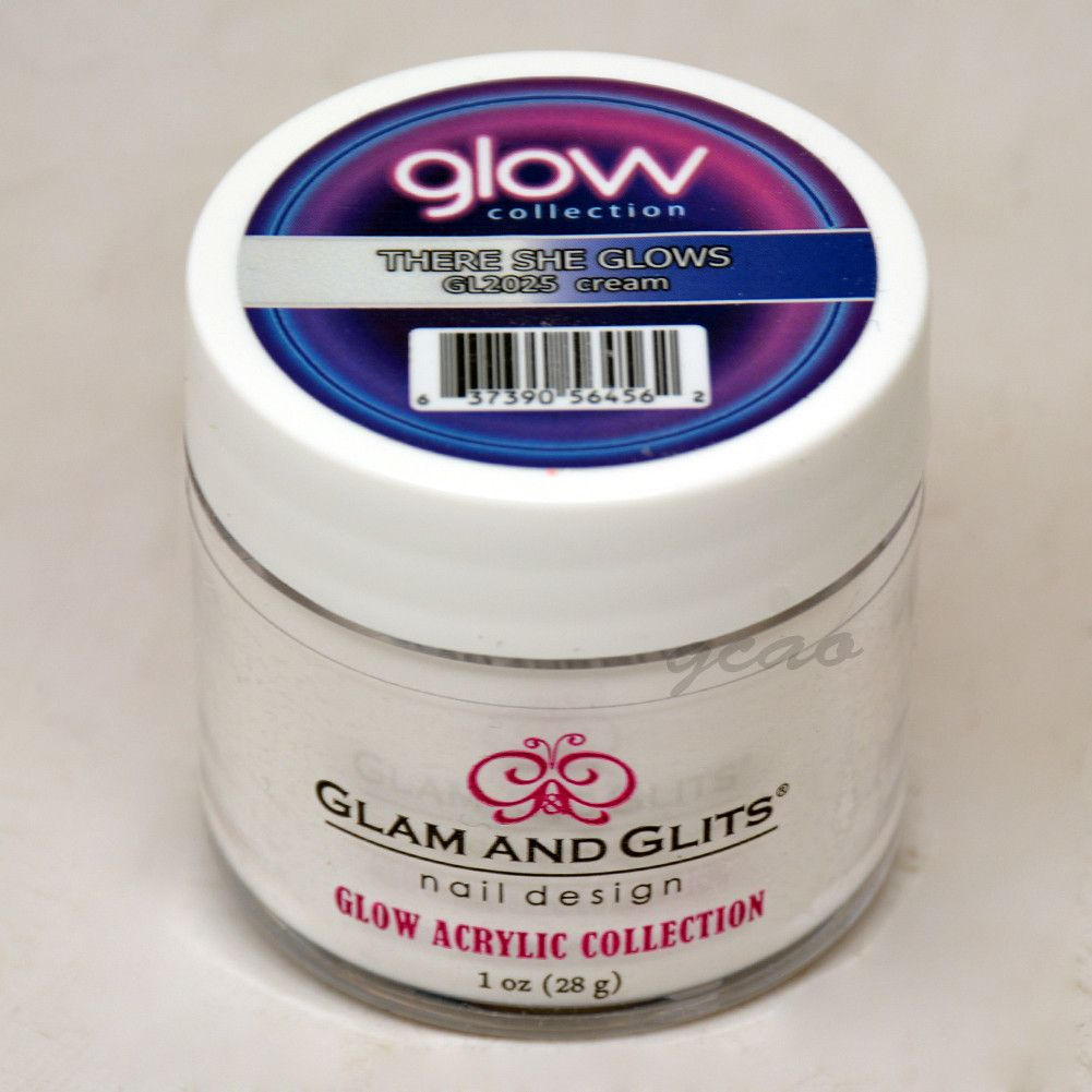 Glam And Glits Acrylic Glow In The Dark Nail Powder Health & Beauty Opaque Mist 2029 Nail Care, Manicure & Pedicure