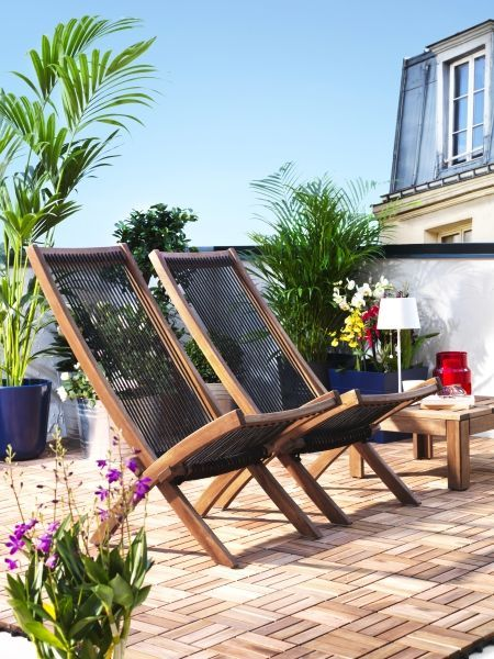 Make The Most Of Any Small Backyard E To Create A Perfect Sun Soaking Spot BrommÖ Outdoor Chaise Lounge Chairs Designed By Ikea