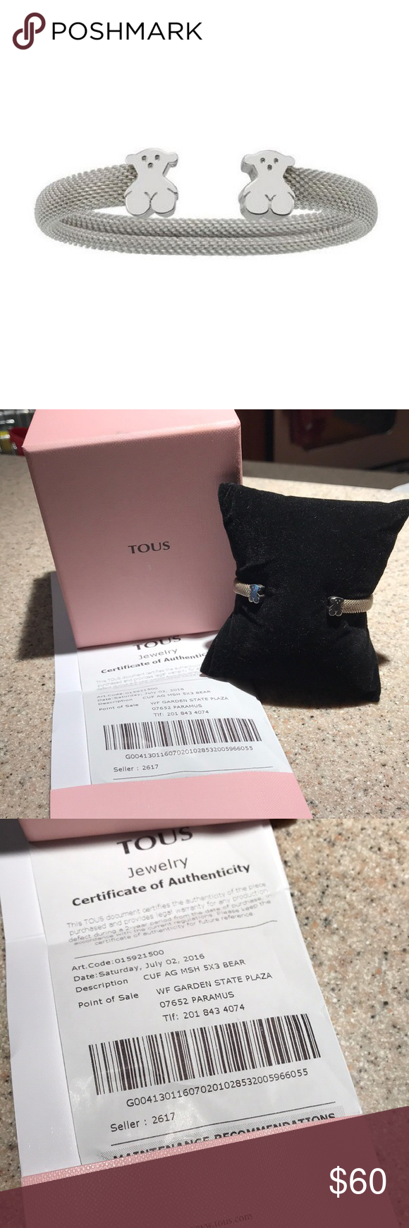 SOLD Tous Silver sweet dolls bracelet boxreceipt Birthday gifts