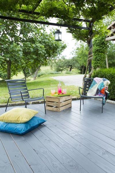 Repeindre une terrasse en bois