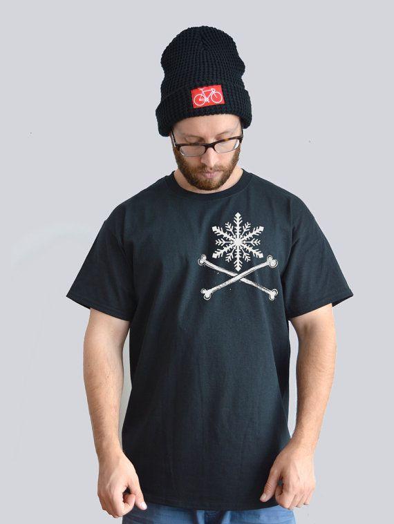 Snowflake Crossbones T-shirt By Ben Prints On Etsy.