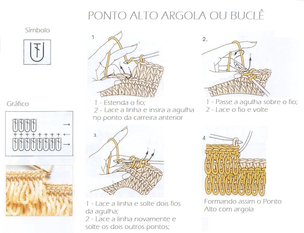 Punto Argolla o Bucle Tutorial Video - Patrones Crochet | Crochet ...