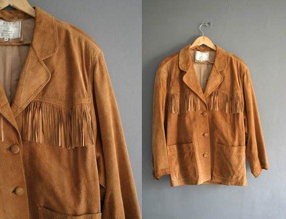 90s Suede Fringe Jacket Mens Medium / by VioletsAtticVintage #fringejacket #suede #90s #grunge #fringed #fringedjacket #violetsattic