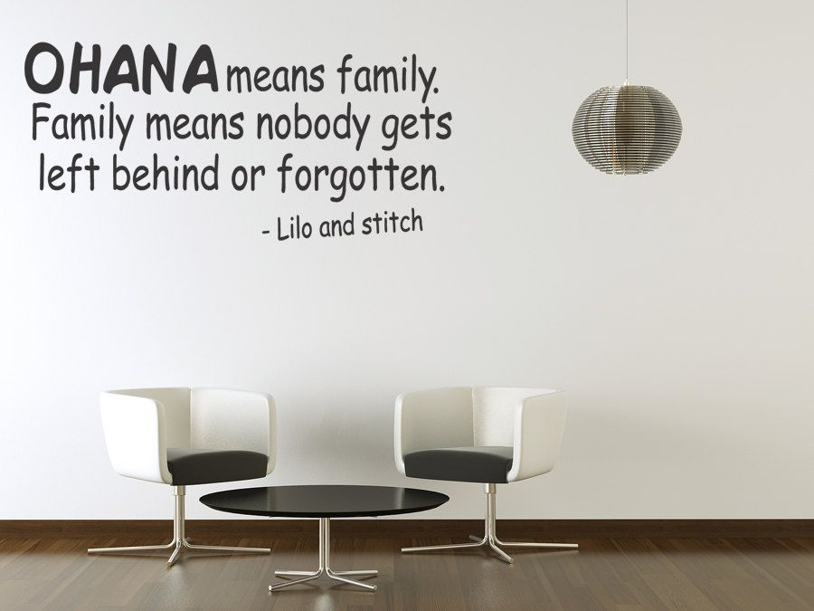 ohana means family vinyl wall quote sticker art wall lettering decal