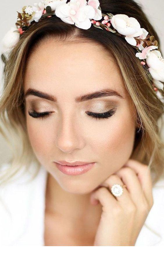 Nice neutral bride makeup