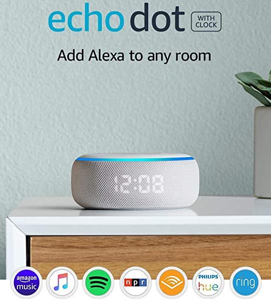 Echo Dot 3rd Gen Smart Speaker With Clock And Alexa Sandstone In 2020 Tech Gadgets Gifts Cool Tech Gadgets Gadget Gifts
