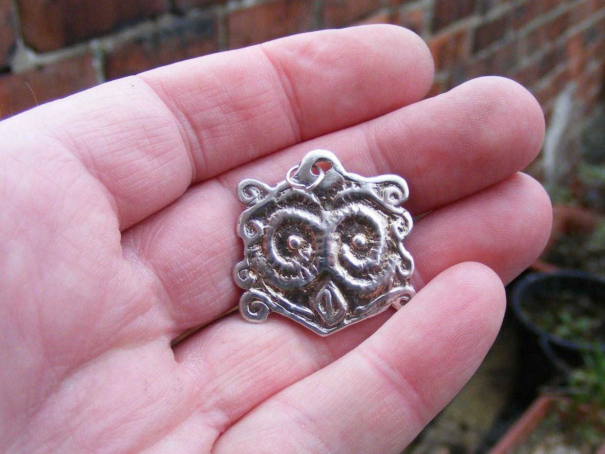 Owl, Ancient Greek, Mycenaean, Bronze Age, Sterling Silver Pendant ...