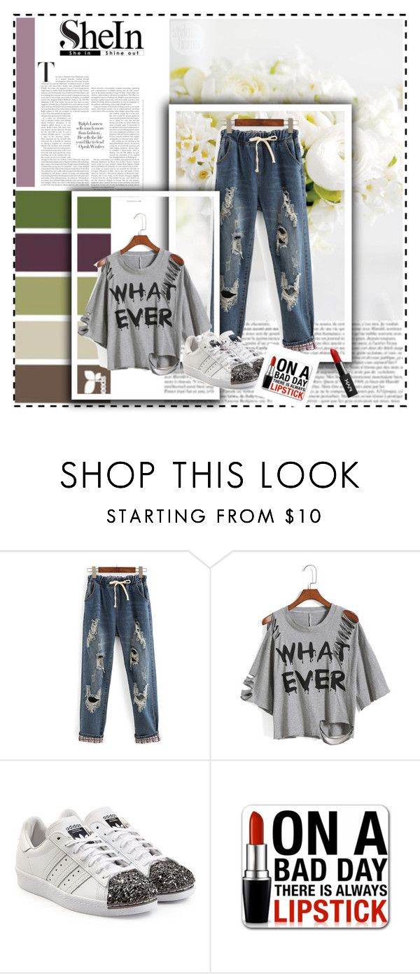 """""""Because I can"""" by queen-suga ❤ liked on Polyvore featuring WithChic, adidas Originals and Mixit"""