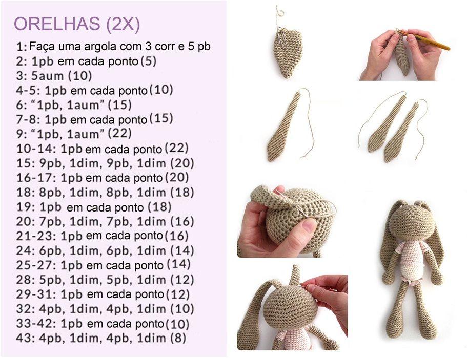 Coelho Amigurumi Receita : Amigurumi coelhinha de croch amigurumis pinterest