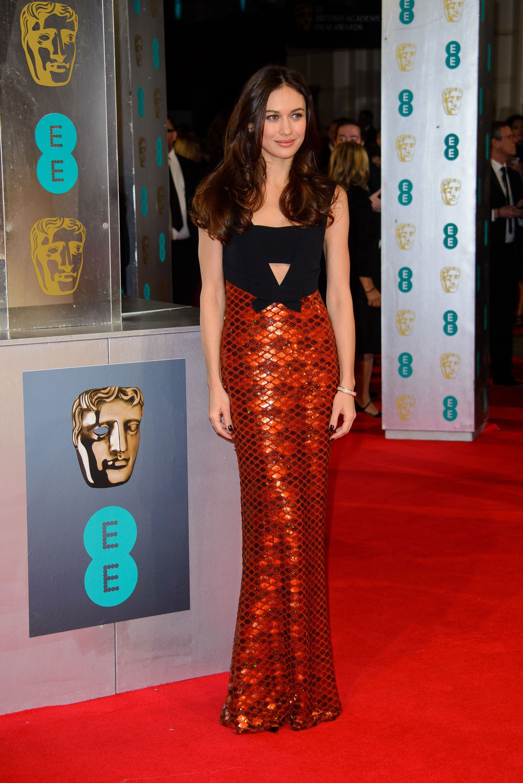 Olga Kurylenko wearing @burberry – EE British Academy Film Awards #2014