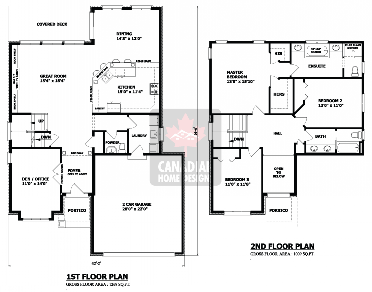 2 story house plans 9 hair pinterest house attic for Two story cabin plans