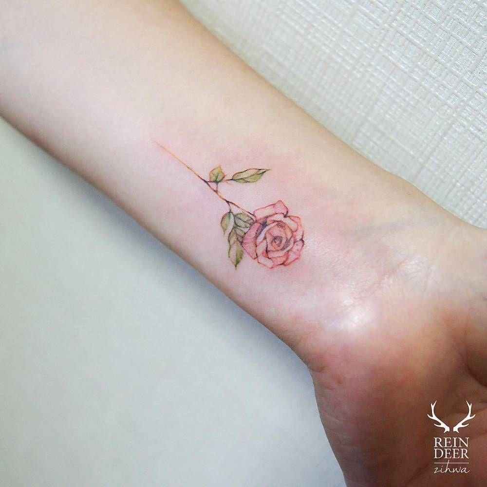 Rose Tattoo On The Wrist Flower Tattoos Pinterest Tattoos