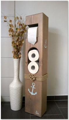 Gut gemocht Toilettenpapierhalter Maritim Holz von MitHerzundHolz auf Etsy XS42