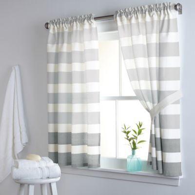 Dkny Highline Stripe 38 Inch X 45 Inch Cotton Window Curtain Panel