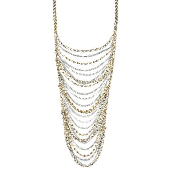 Multiple Chains Long Necklace ❤ liked on Polyvore