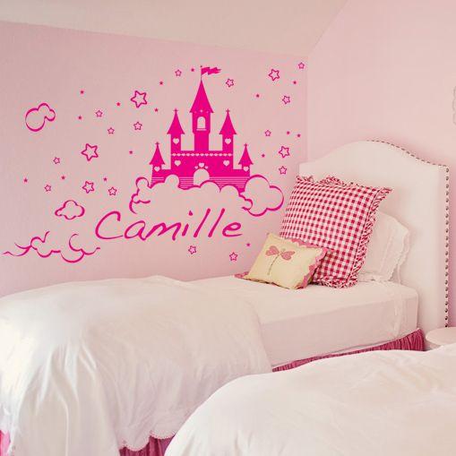 Stickers ch teau de princesse d coration chambre fille - Decoration chambre princesse ...