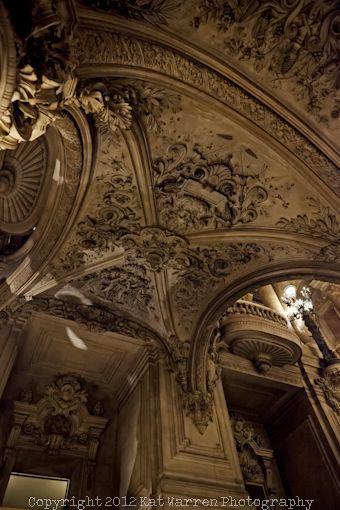 Palais Garnier, Beautiful Paris Opera House carved ceiling!