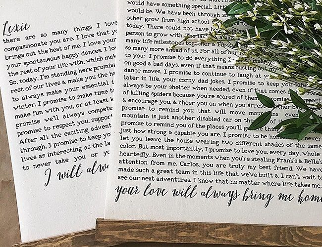 How to Write Wedding Vows (Tips And Template Wedding