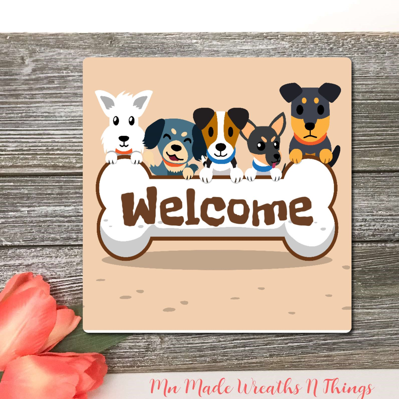 Welcome To The Dog House Sign Wreath Accent Sign Wreath Supplies