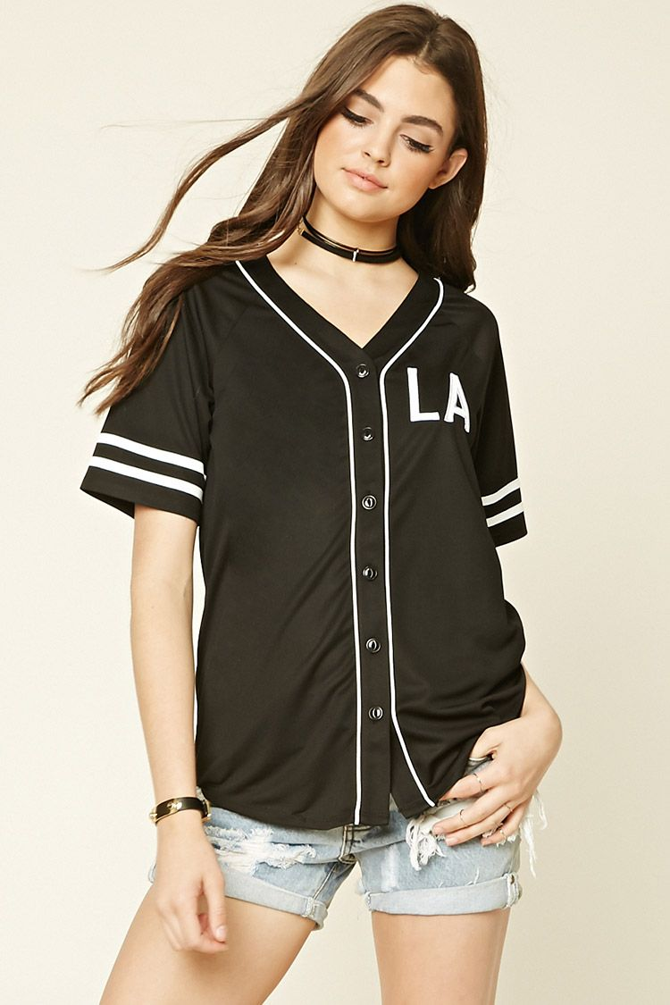 A baseball jersey crafted from mesh knit with a Vneckline