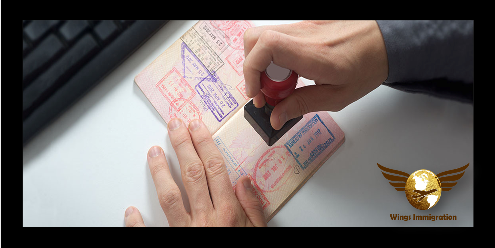 Wings Immigration Visa Services Wings, Cards, Playing