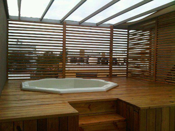 Estructura para jacuzzi y solarium en azotea apto roof garden pinterest decoracion - Jacuzzi para terraza ...
