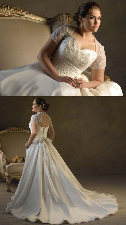 2fbfdb99b Vestido de novia para gorditas clasico y tradicional en organza y linea A  escote corazon y