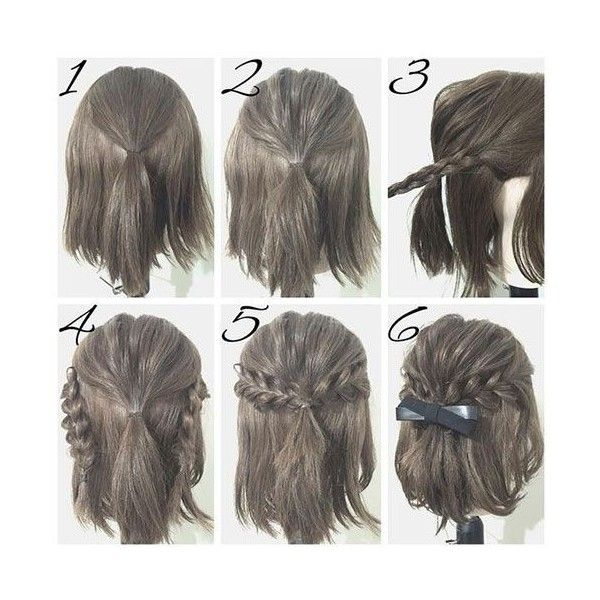 Cute Half Up Minus The Bow Hair Pinterest Short Hair