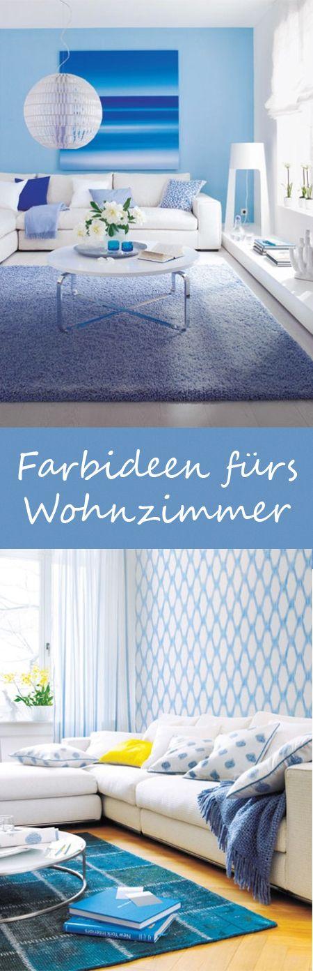 Farbideen fürs Wohnzimmer Natürlichkeit ist Trumpf Living rooms - wohnzimmer blau grun