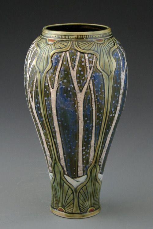 Illustrated Imaginarium Art Nouveau Pottery By Stephanie