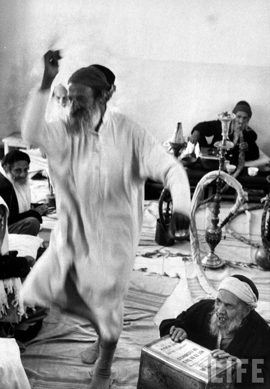 Yemenite Israelis in home for aged dancing to celebrate Lag B'Omer