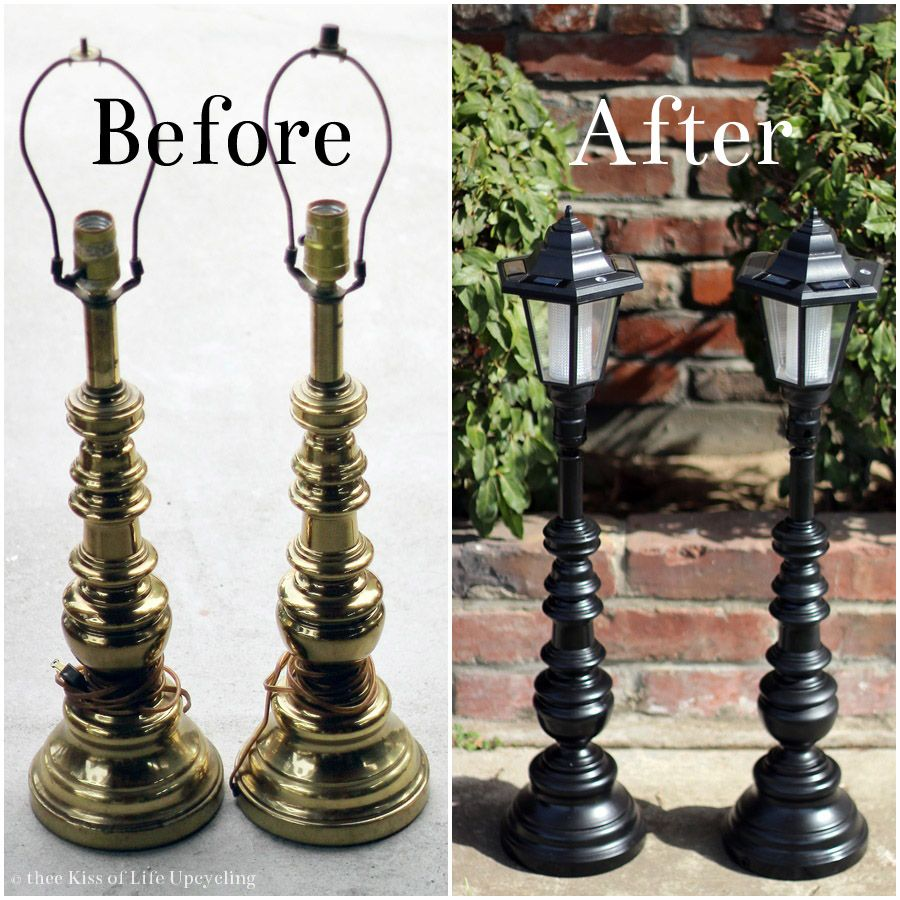 Upcycled Lamps And Lighting Ideas: Thee Kiss Of Life Upcycling: Upcycled Solar Lamp Posts