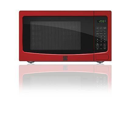 Kenmore 1 1 Cu Ft Countertop Microwave Oven Red Countertop