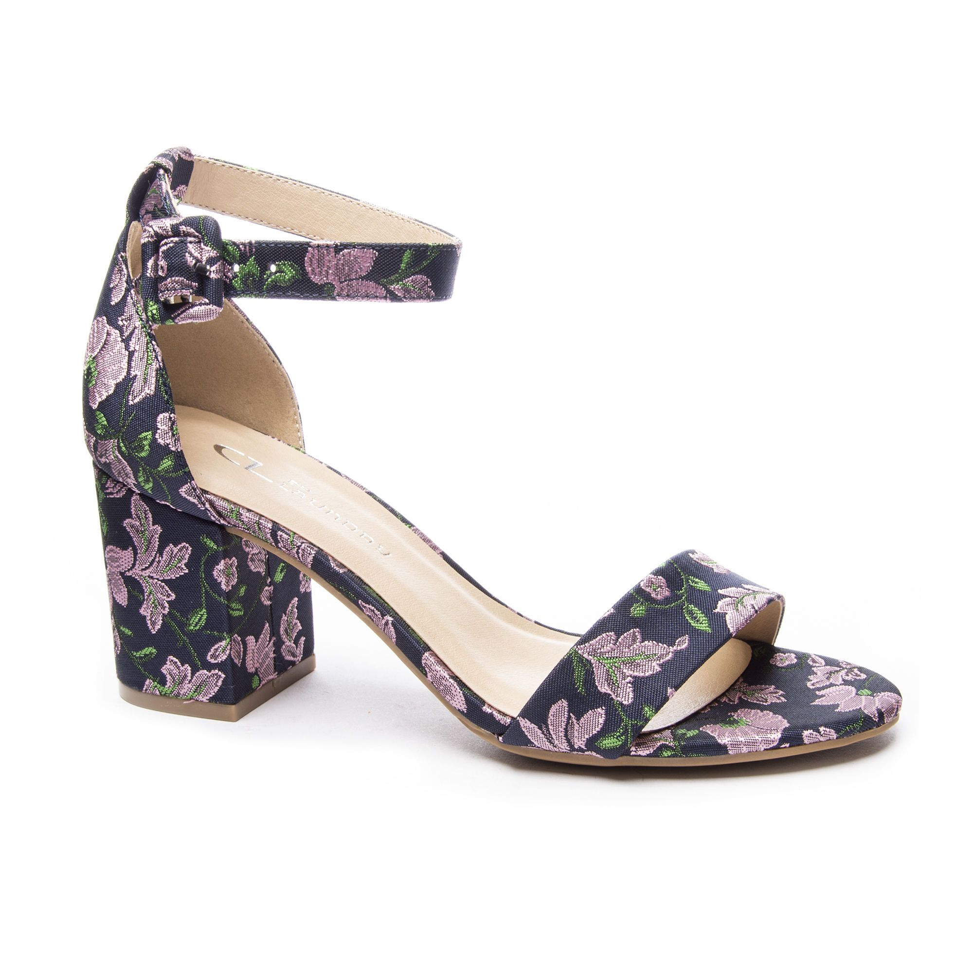 e263a43bacf4 CL by Laundry Jody Floral Brocade Block Heel Sandal