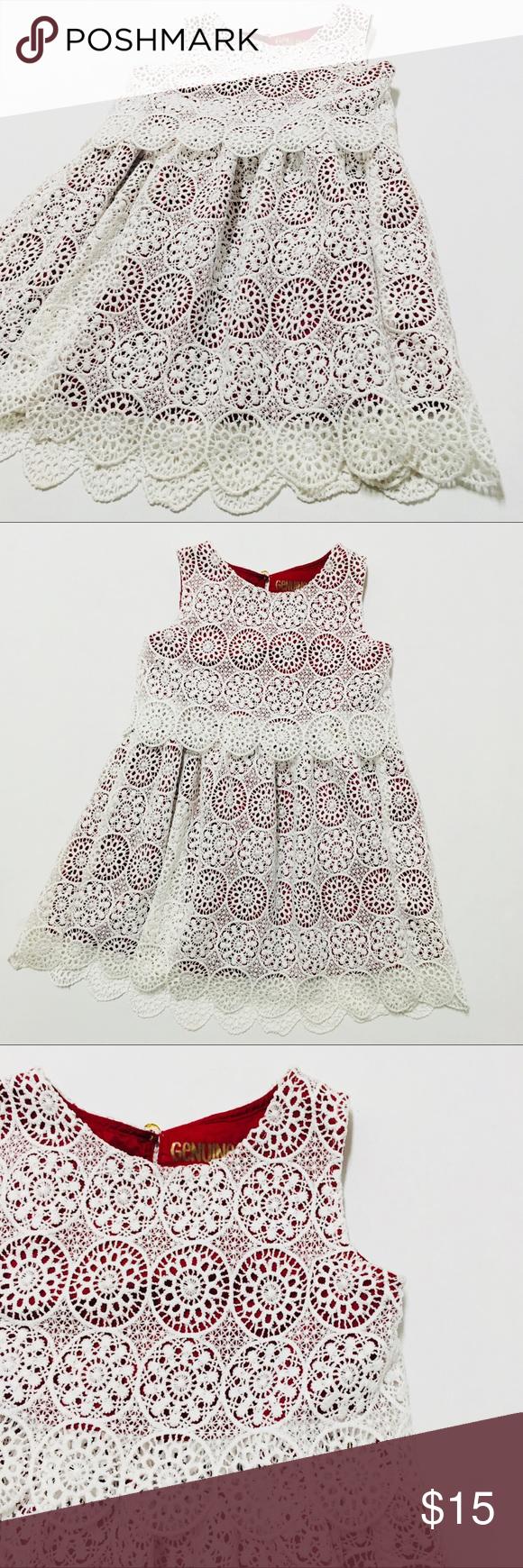 Genuine Kids Girls Doily Lace Party Dress 5t Lace Party Dresses Dresses 5t Crochet Lace Dress [ 1740 x 580 Pixel ]