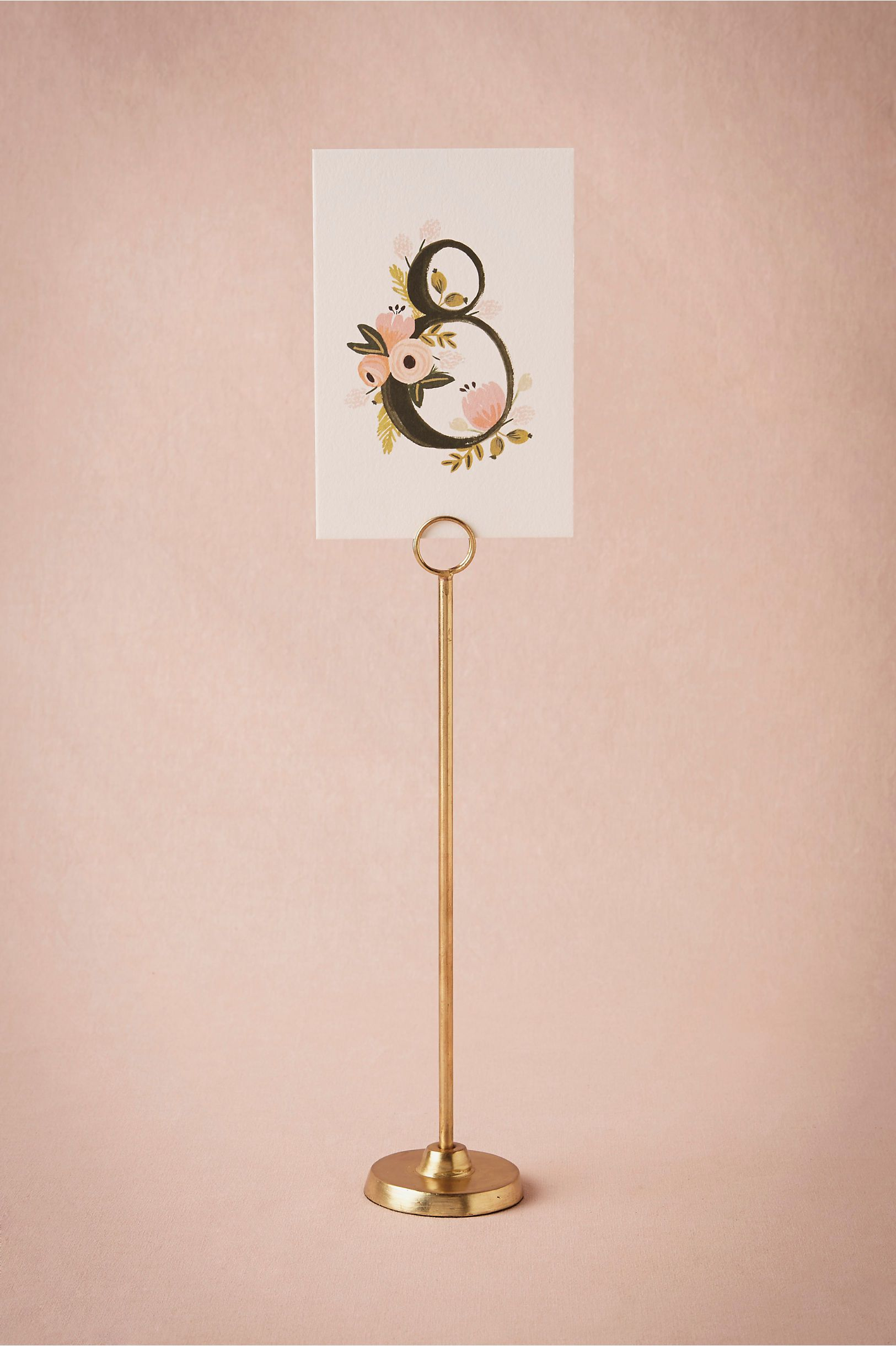 Charming Golden Spindle Cardholder In Décor Table Signage At BHLDN