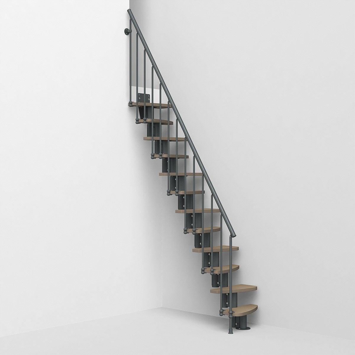 Escalier Droit Rev Acier Gris Ant Zen 2 Colonette 12 Mar Orme