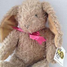 Manhattan Toy Carousel Antique Bunny Rabbit Plush 1991 Stuffed Animal Brown Vtg ebay $100